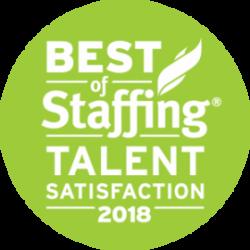 Artisan Talent - Best of Staffing: Talent Satisfaction 2018 Award