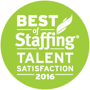 Winner, Best of Staffing Talent Satisfaction 2016
