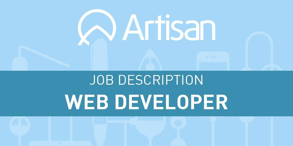 Web Developer Job Description - Artisan Talent