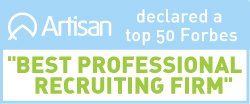 Winner, top 50 Best Professional recruiting firms 2017